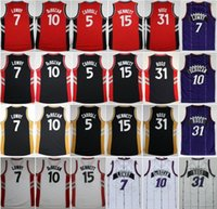Wholesale Newest DeMar DeRozan Kyle Lowry Throwback Jersey Purple Red Black White Terrence Ross Anthony Bennett Shirt DeMarre Carroll
