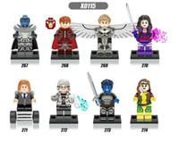 al por mayor magneto x men-8 pcs mucho superhéroe americano X-Men Apocalypse Profesor X Magneto Quicksilver Minifigure Building Blocks Juguetes Juguetes para niños