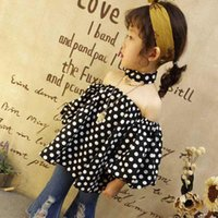 Girl baby doll shirts - Girls Baby Clothes Fashion Spring Summer Toddler dots puff sleeve Tops Blouses Children Shirts T shirt Best Shirts Kids Doll Collar Top A258