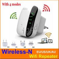 achat en gros de wifi booster gamme d'antenne-Sans fil N Wifi Répéteur 802.11N / B / G Réseau Router 300Mbps antennes Signal amplificateur étendre wifi étendre l'amplificateur EU EU AU UK Plug 10pc