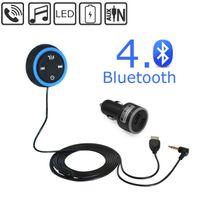 al por mayor receptor bluetooth nfc-Bluetooth 4.0 Receptor de música inalámbrico manos libres kit de coche altavoz con 3,5 mm de entrada auxiliar audio de música de streaming de apoyo NFC