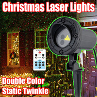 Wholesale Red Green Static Twinkle Waterproof christmas lights outdoor Garden Decorations Star Laser Projector Showers Lighting