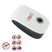 Wholesale EU US Electronic Ultrasonic Anti Pest Insect Bug Mosquito Cockroach Mouse Killer Repeller Control V V HOA_801