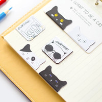 Wholesale AB16 pack Kawaii Cute Lovely Cat Magnetic Bookmarks Books Marker of Page Stationery Office Supply Kids Rewarding Gift