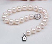 Mers du sud Prix-Natural authentique AAA 8mm blanc mer du Sud shell Pearl Bracelet 7.5