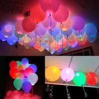 Wholesale LED Balloons quot Latex Multicolor Lights Christmas Halloween Decoration Wedding Party Festival Supplies Happy Birthday