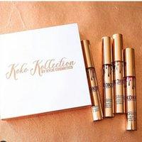 Wholesale Kylie Jenner KOKO Kollection by kylie cosmetics lipstick Set Family kollaboration Gold Metal Matte lipstick KHLOE Lip set hot new