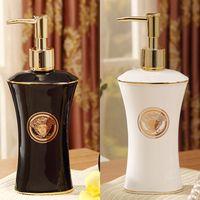 bathroom soap dispenser - Ceramic soap bottle ceramic the woman s head design black and white glazed bathroom soap dispenser soap bottle dispenser luxury gift