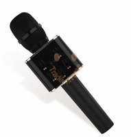 Wholesale Q7 Karaoke Microphone Phone KTV Player Wireless Condenser Bluetooth MIC Speaker Record Music For IOS Android Gold Rose Gold Pink Black