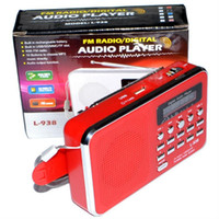 Wholesale L Mini Portable FM Radio Rechargeable Digital LED MP3 Speaker Player Support TF micro SD Card Playing