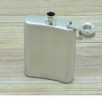 Wholesale Portable oz Stainless Steel Flagon Ounce Hip Flasks Carry Stoup Whisky Liquor Alcohol Pocket Hip Flask Wine Pot WA2452