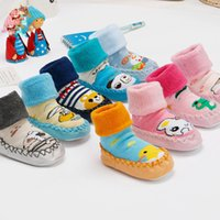 babies and childrens shoes - Baby Kids Clothing Childrens Socks wholesales winter warmer girls Boy animal ankle leather bottom toddlers shoes and socks Mos YB