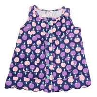 Wholesale casual purple printed girl s dress