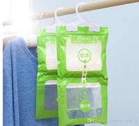 Wholesale Home Garden Household Cleaning Tools Household Chemicals hanging wardrobe closet hanging moisture absorbent desiccant bag drying agent