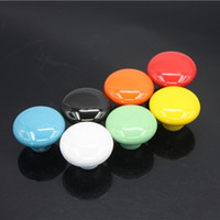 Wholesale Candy color Round Ceramic Drawer Knob children European Cabinet Cupboard Door Pull Handle x2 x3 cm