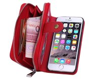 Cheap Zipper Leather 2 in 1 Wallet Case For Iphone7 Case For iPhone6 7 6 6s 5 5S SE Plus Cover Bags For Samsung S7 S6 Edge Plus Note4 Note5 S4 S5