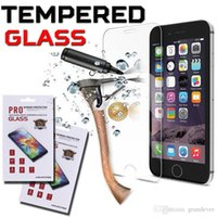 Wholesale 9H Explosion Tempered Glass Screen Protector Proof Film For iPhone Plus S S Samsung Note S7 S6 Edge With Retail Package MOQ