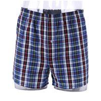 Wholesale Popular Men Casual Shorts Boxers Male Comfortable Cotton Plaid Loose Medium Waist Home Panties