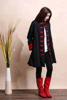 Wholesale Double breasted tang suit jacket Qiu dong for women to restore ancient ways with thick coat Long Chinese nation the wind warm coat