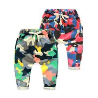 Wholesale 2016 Kids Girls Boys loose harem Pants Babies boy girl camouflage print Casual cotton pp pant Children s trousers baby spring clothes SDB825