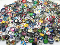 Wholesale assorted mixed different styles high definition mm round glass ginger snap charms buttons DIY Jewelry Accessories