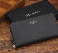 Wholesale Women Wallets Fashion Metal Design Genuine Leather Wallets Women Clutch Wallets Lady Vintage Clutch Bag Coin Purse send with box