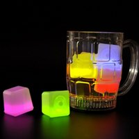 Birthday add ice - Fluorescence LED Glow Ice Block Simulation Square Cubes Luminous For Drinkable Decor Party Bar Ktv Add Plastic Colorful jx