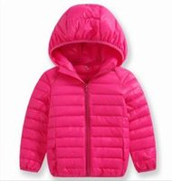 Wholesale New winter children children s clothing han edition pure color light down jacket to keep warm coat