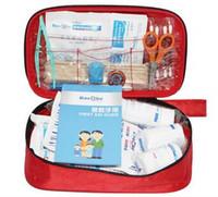 Wholesale Hot sale cheap First Aid Kit Traveler Emergency Bag Emergency Survival FIRST AID KIT set Bag Treatment Pack Travel Sports Medical Red