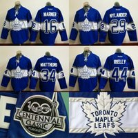 Wholesale 29 William Nylander Centennial Classic Jersey Toronto Maple Leafs Anniversary Patch Men s Mitchell Marner Morgan Rielly