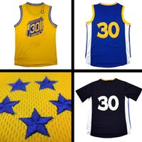 Wholesale Men Stephen new curry Jersey Stitched Davidson College embroidery jersey High quality blue white gold
