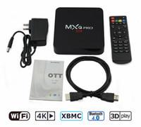 Wholesale Android S905X GB GB MXQ PRO Internet TV Box Video Streaming K Media Player Kodi GHz WiFi DHL free