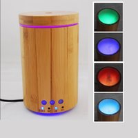 bamboo mist - New design ml Ultrasonic Aromatherapy Essential Oil Diffuser Bamboo aroma diffuser