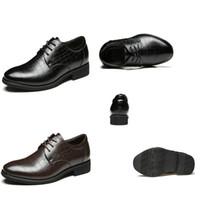 craft shoes - New Fashion Men Business Shoes Luxury Craft Pointed Lattice Pattern Men Dress Shoes Comfortable Breathable Men Shoes