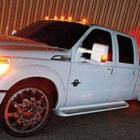 Wholesale 4pcs LED Car Marker Lights Smoked Lens Amber Red For Ford F350 F Series M00136