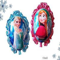 aluminum foil mirror - Mirror Frozen Balloon for Happy Birthday Party cm Princess Frozen Elsa Anna Aluminum Foil Cartoon Helium Balloons Decoration DHL Free
