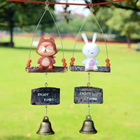 Wholesale The sun descended from the wind chimes bird house bells With animal bells cm for Home Garden