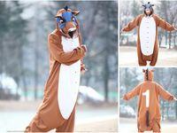 Wholesale Animal Costume Cosplay Adult Pyjamas JP Animal Pink Blue Yellow Koala Racehorse Zebra Rudolph Pajamas
