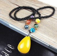 Beaded Necklaces beaded bundles - Retro necklace jewelry long bodhi son female beeswax sweater chain pendant bundle of ornaments