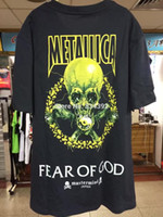 Wholesale 2017 new Metallica World Tour T Shirts World Magnetic Tour Tops Fear of God Tee Heavy Metal Rock MUSIC Graphic Print T Shirts
