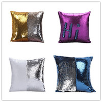 Wholesale Sequin Mermaid Sequin Pillow Case Decorative Throw Meditation Pillows Cover Christmas Home Gift Back Cushion Sofa Car Decor Pillowslip Glow