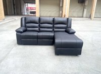 Wholesale sectional recliner sofa PU PVC knockdown