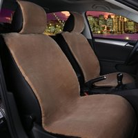 Wholesale 1pcs For One Front car seat covers faux fur cute car interior accessories cushion styling winter new plush car pad seat cover