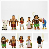 Wholesale 2017 DHL CM Moana Ocean Marvelous Toy Hand made Anime doll Princess Moyana Decoration Moana hand to do Decoration toys gifts p set