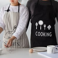 Wholesale Fashion Cotton Women Cooking Kitchen Restaurant Bib Apron Dress with Pocket Gift Home Textiles Beautiful aprons