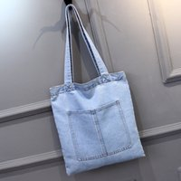 Wholesale Fashion Sailing Big Cowboy Grocery Totes Bag Female Single Shoulder Shopping Bag Blue two color