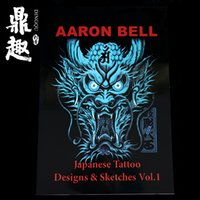 Wholesale Japanese Tattoo Design Sketches Dragon Pattern Tattoo Manuscript A3 Size Pages High Quality Tattoo Book Falsh TB2203