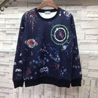 Pullover active freight - Autumn and winter new universe star sky stars earth hand painted lovers fitted round necklace head sweater package freight
