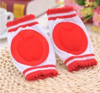 Wholesale Baby Crawling Baby Toddler Ccandy Colored Socks Slip Fall Proof Kneepad Sleeve Free Shpping