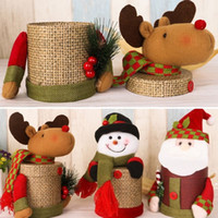 Wholesale Fashion Christmas Santa Reindeer Candy Gift Bottle Box Storage Treat Bags Xmas Container For Christams Party